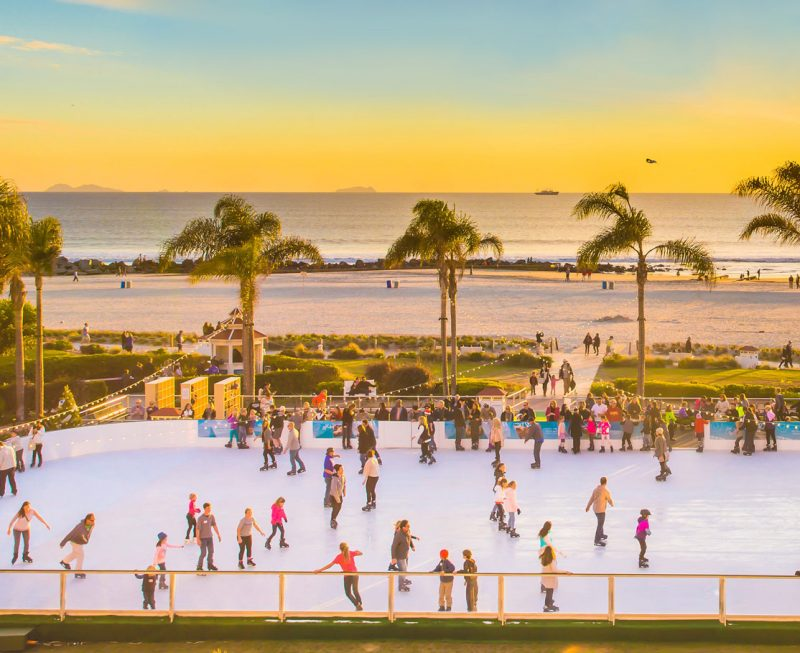 Holiday ice skating in San Diego